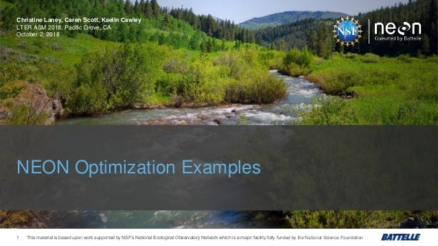 This material is based upon work supported by NSF's National Ecological Observatory Network which is a major facility full...