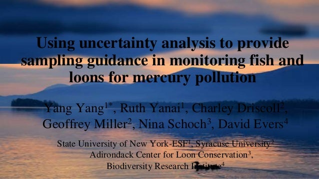 Using uncertainty analysis to provide sampling guidance in monitoring fish and loons for mercury pollution Yang Yang1*, Ru...