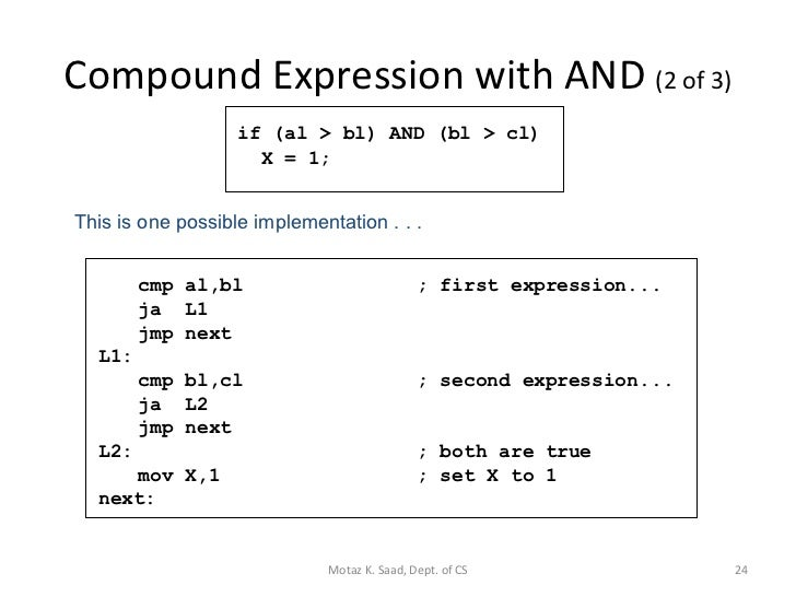 Assembly Language Lecture 5
