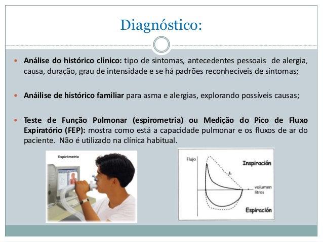 Exame para asma