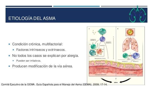 ETIOLOGÍA DEL ASMA  Condición crónica, multifactorial:  Factores intrínsecos y extrínsecos.  No todos los casos se expl...
