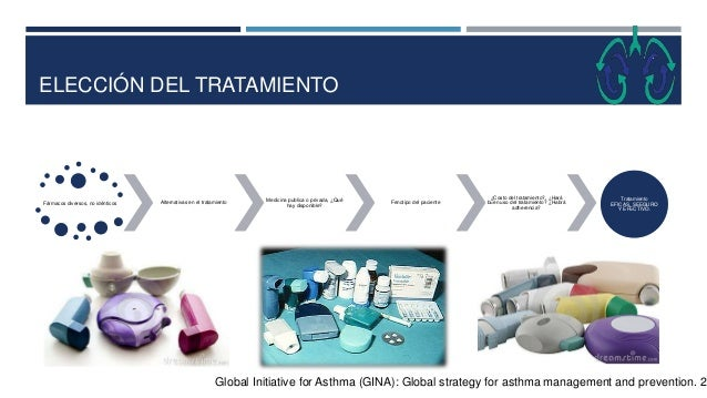 ELECCIÓN DEL TRATAMIENTO Global Initiative for Asthma (GINA): Global strategy for asthma management and prevention. 20 Fár...