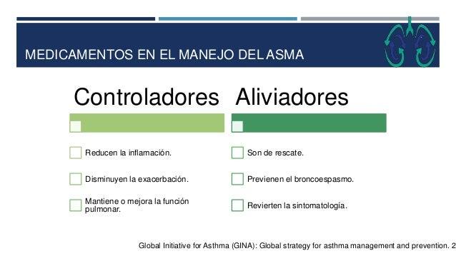 MEDICAMENTOS EN EL MANEJO DEL ASMA Global Initiative for Asthma (GINA): Global strategy for asthma management and preventi...