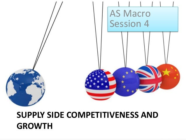 SUPPLY SIDE COMPETITIVENESS AND GROWTH AS Macro Session 4