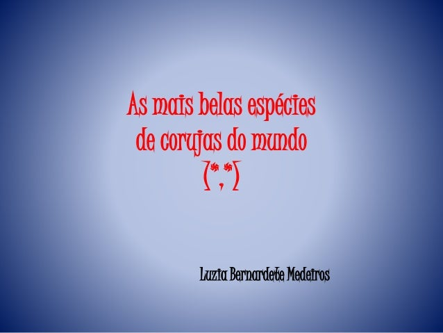 As mais belas espécies de corujas do mundo (*,*) Luzia Bernardete Medeiros