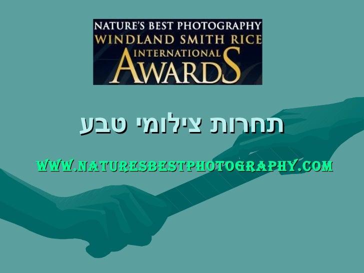 תחרות צילומי טבע www . naturesbestphotography . com
