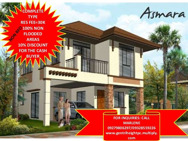 COMPLETE TYPE RES FEE=30K 100% NON FLOODED AREAS 10% DISCOUNT FOR THE CASH BUYER  FOR INQUIRIES: CALL MARLENE 09279806297/...