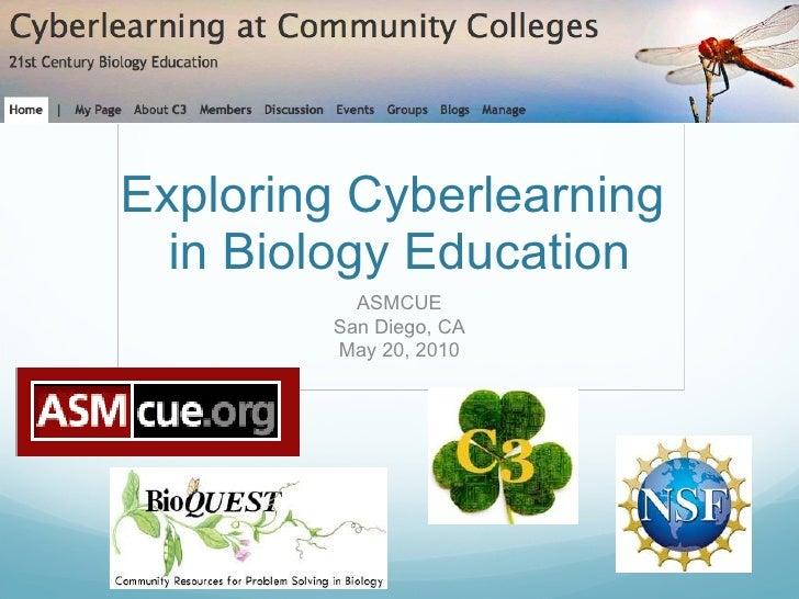 Exploring Cyberlearning  in Biology Education ASMCUE San Diego, CA May 20, 2010