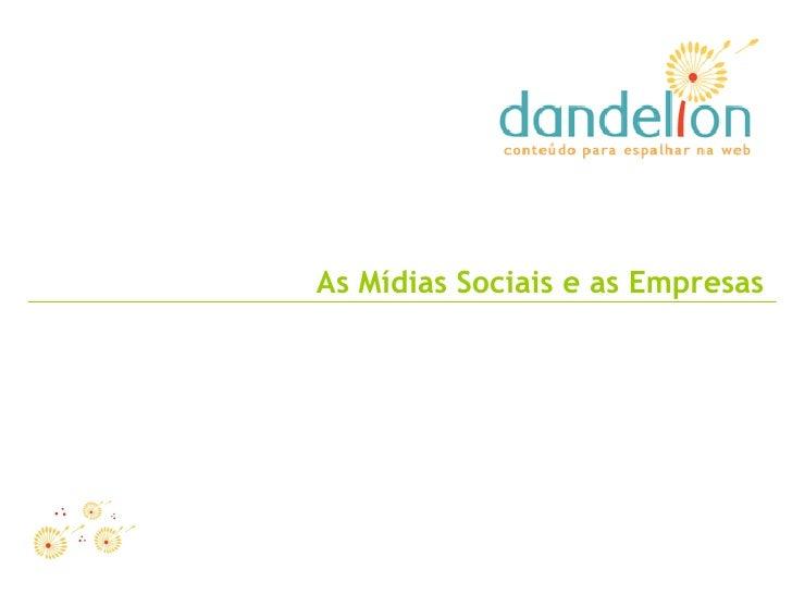 As Mídias Sociais e as Empresas