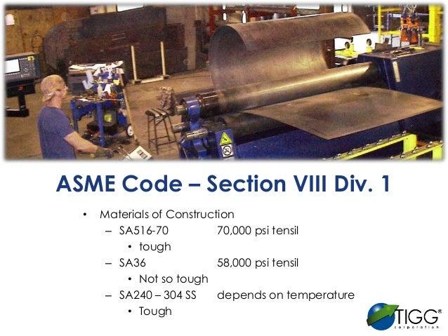 Manufacturing Pressure Vessels To Asme Code