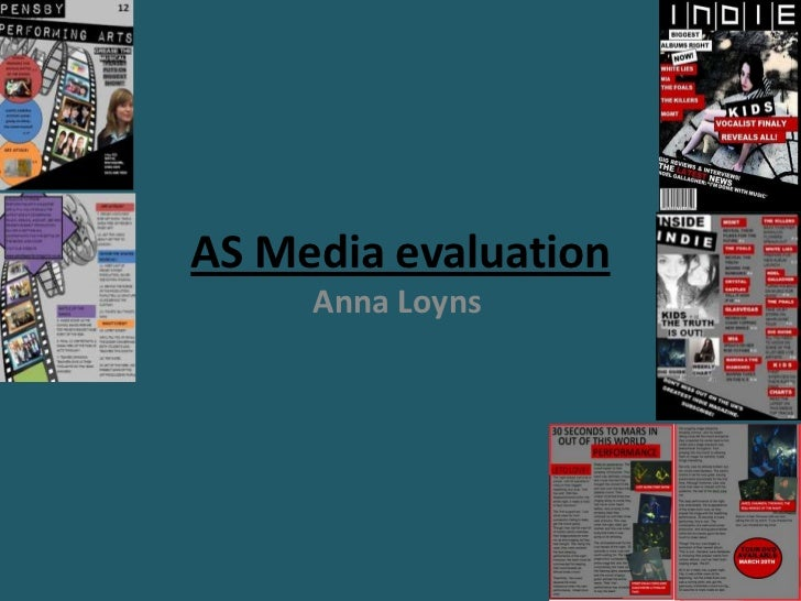 AS Media evaluation<br />Anna Loyns<br />