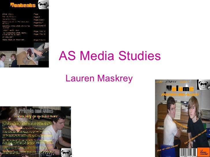 AS Media Studies Lauren Maskrey