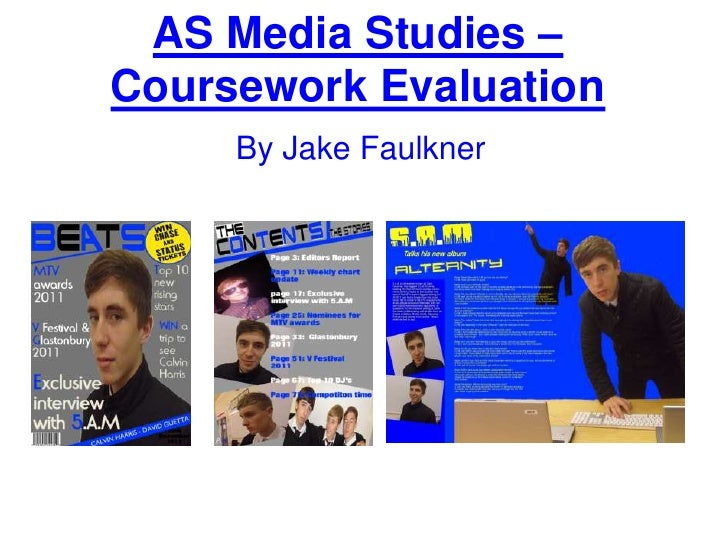 As media studies – coursework evaluation