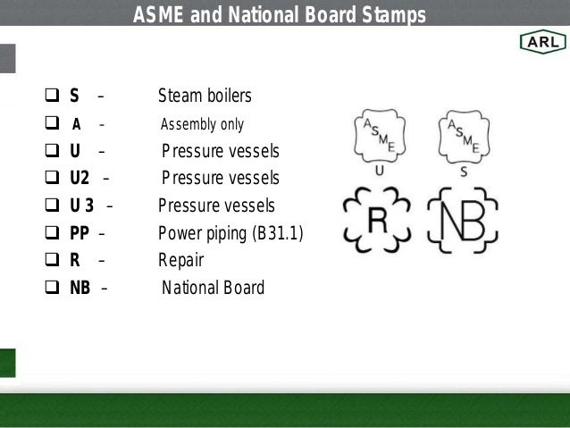 ASME And National Board Stamps