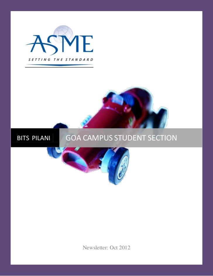 BITS PILANI   GOA CAMPUS STUDENT SECTION                 Newsletter: Oct 2012