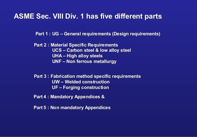 Asme section viii div 1 design training - Asme viii div 1 ...