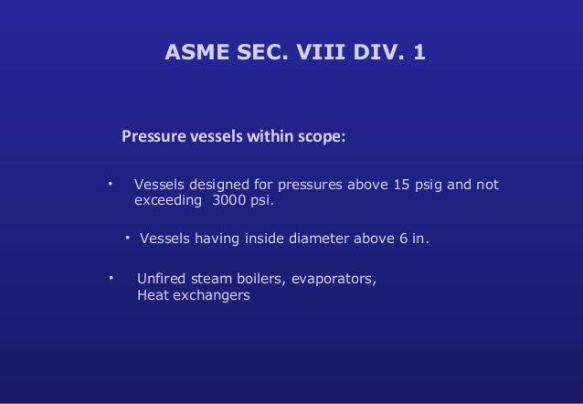 ASME Section VIII Div 1  design training