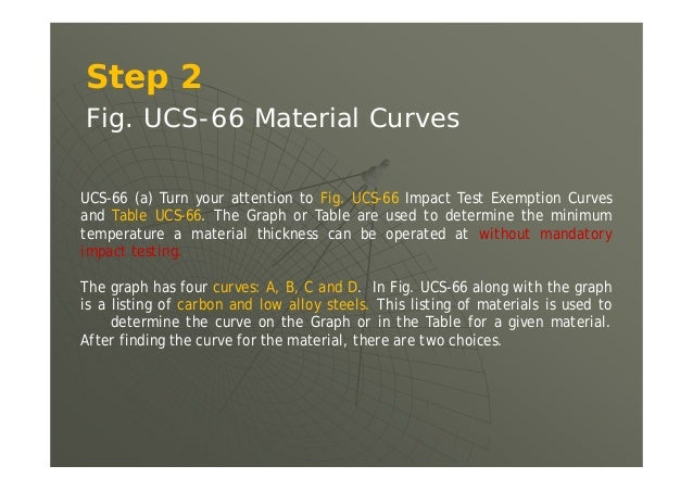 Step 4  UCS-68(a) Design rules for carbon and low alloy steels stipulates requirements about construction of the vessel o...