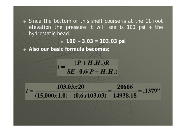 Problem: Calculate the required pneumatic test pressure for a vessel using the following conditions. Material Carbon Steel...
