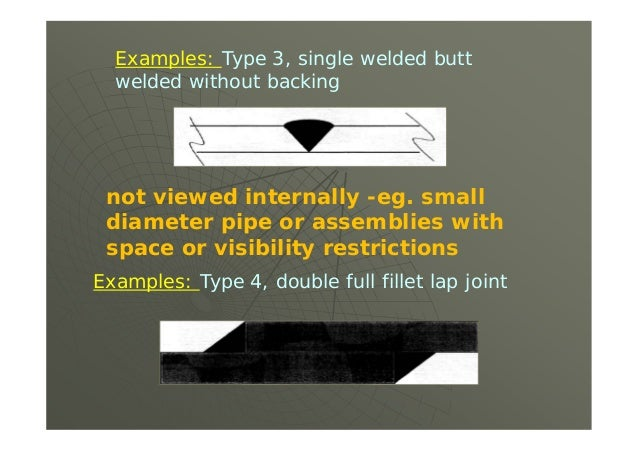 (a) Full Radiography. The following welded joints shall be examined radiographically for their full length …. (2) all butt...
