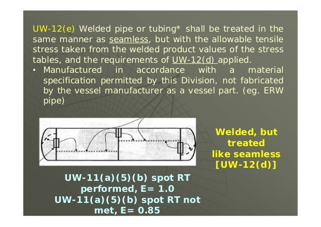 4. A Type 2 weld has received Spot Radiographic Testing resulting in a Joint E of 0.80, this E could be improved to a 1.0 ...