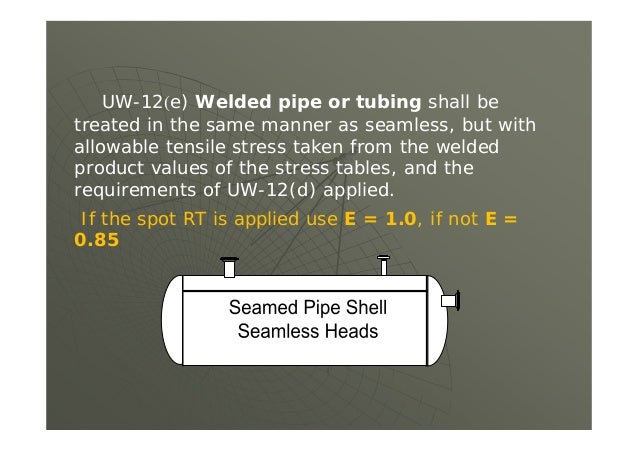 UG-116(e) Required Marking When a vessel has been radiographed in accordance with UW-11, marking shall be applied under t...