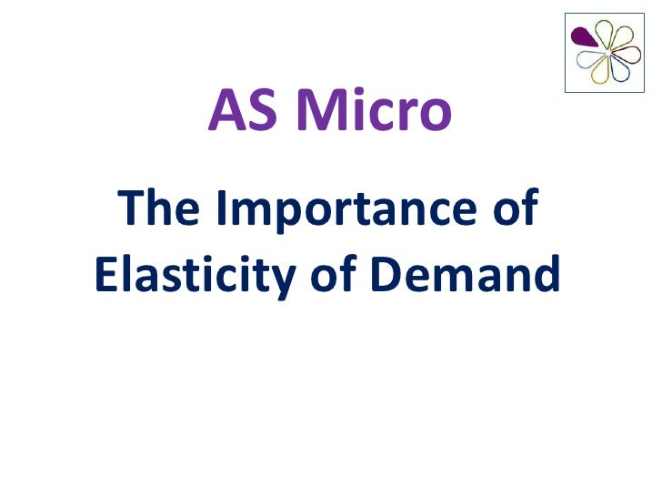 AS Micro The Importance ofElasticity of Demand