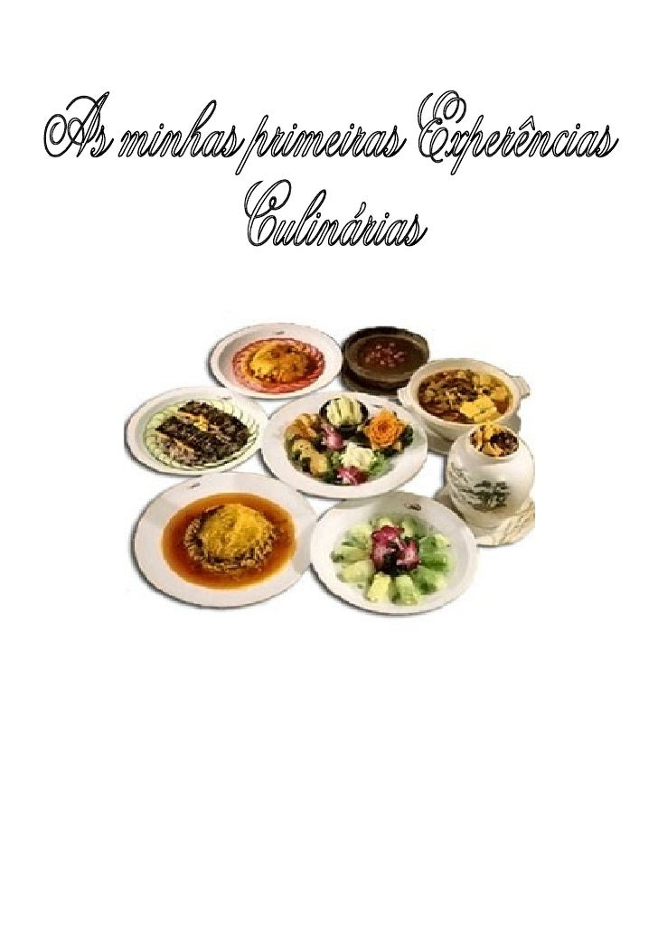 """9º CEF                                       Cozinha     """"As minhas primeiras experiências culinárias"""" – CEF Cozinha 2008/..."""