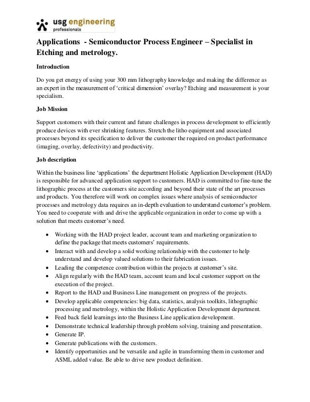 Metrology resume