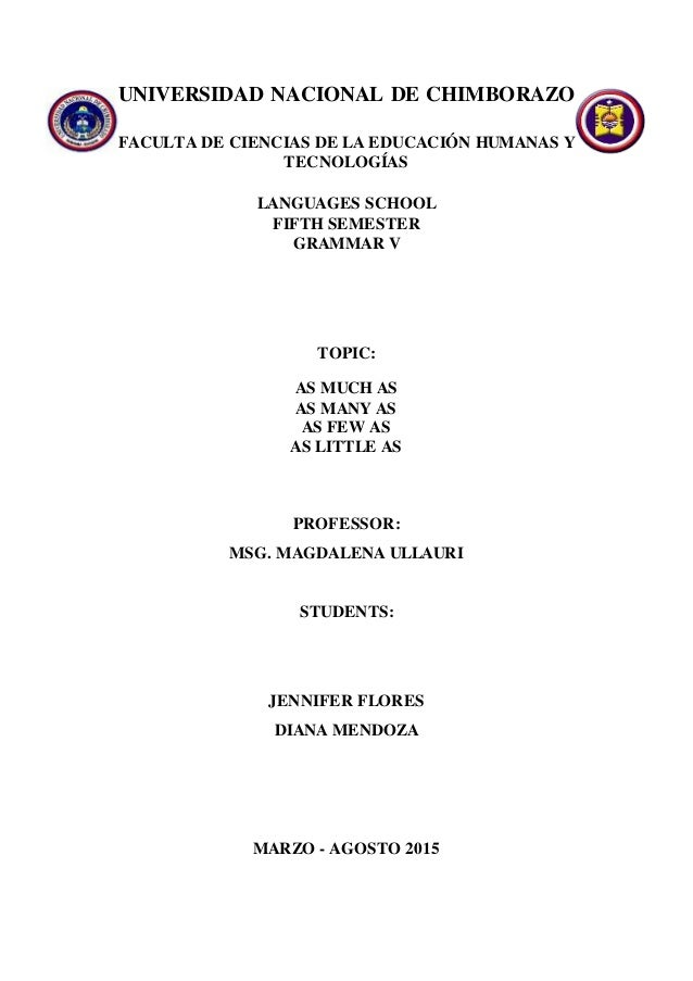 UNIVERSIDAD NACIONAL DE CHIMBORAZO FACULTA DE CIENCIAS DE LA EDUCACIÓN HUMANAS Y TECNOLOGÍAS LANGUAGES SCHOOL FIFTH SEMEST...