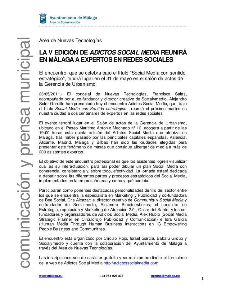 comunicación y prensa municipal                                  Área de Nuevas Tecnologías                               ...