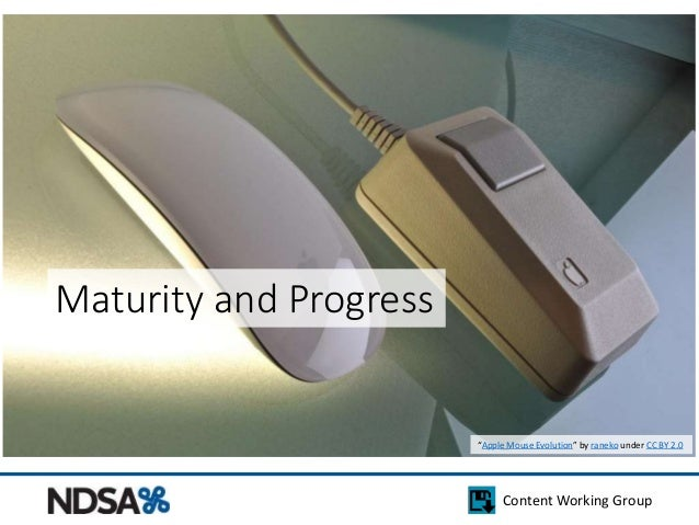 """Content Working Group  Maturity and Progress  """"Apple Mouse Evolution"""" by raneko under CC BY 2.0"""