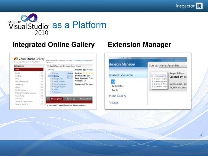 as a Platform<br />Integrated Online Gallery<br />Extension Manager<br />19<br />