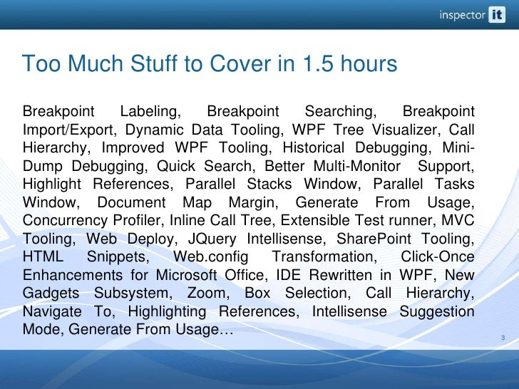 Too Much Stuff to Cover in 1.5 hours<br />Breakpoint Labeling, Breakpoint Searching, Breakpoint Import/Export, Dynamic Dat...