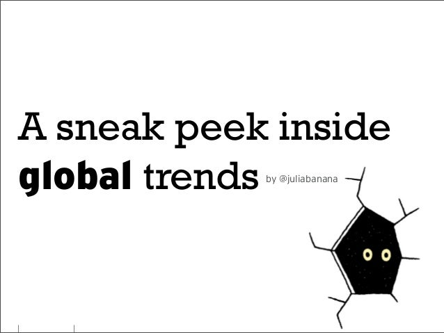 A sneak peek inside global trends by @juliabanana
