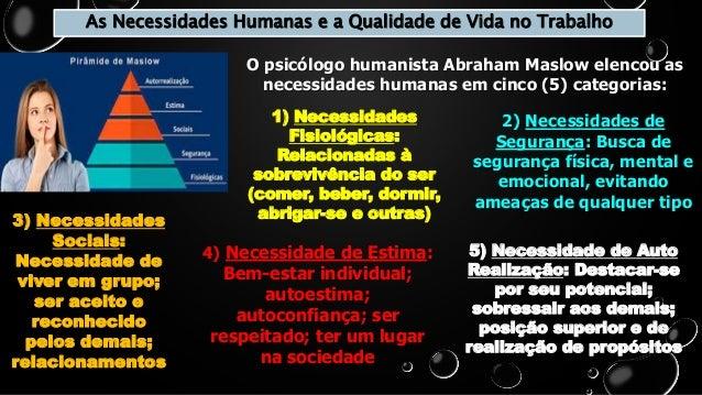 as necessidades humanas e a qualidade de vida no trabalho 1 638