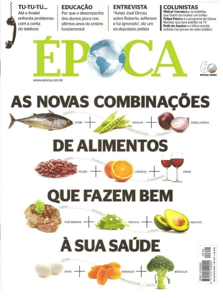As novas combinações alimentares e a saúde humana