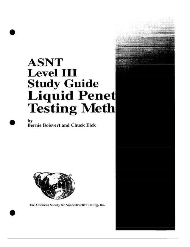 asnt level iii study guide pt rh slideshare net asnt level iii study guide asnt level iii study guide basic revision third edition pdf