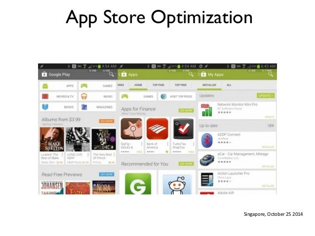 App Store Optimization  Singapore,  October  25  2014