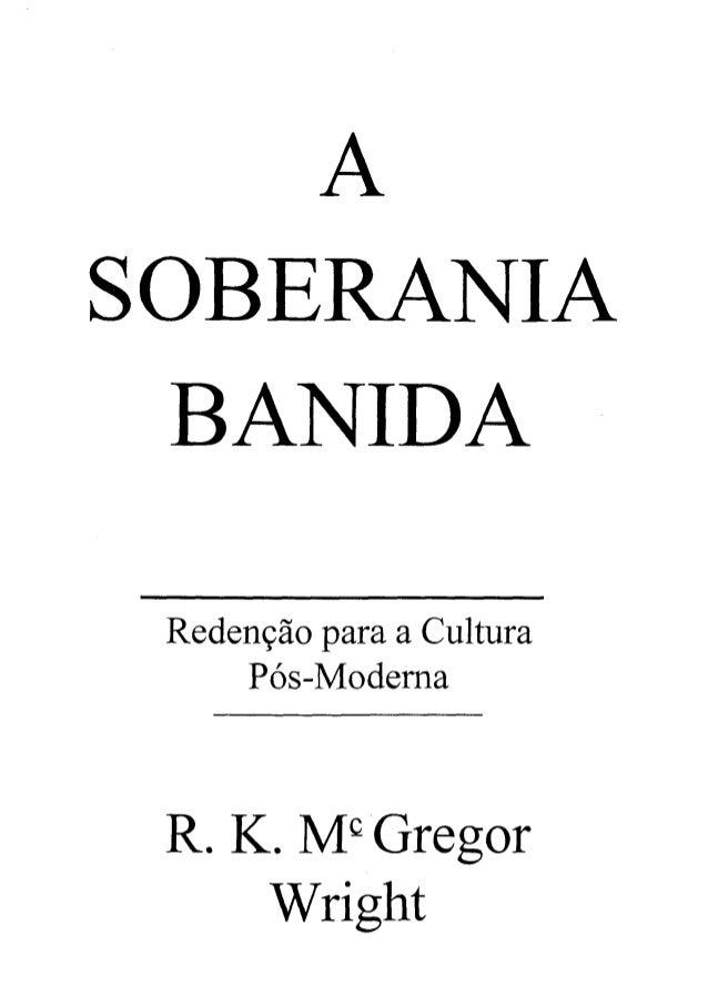 A soberania banida   r. k. mc gregor wright