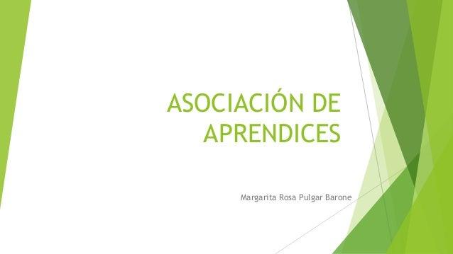 ASOCIACIÓN DE APRENDICES Margarita Rosa Pulgar Barone