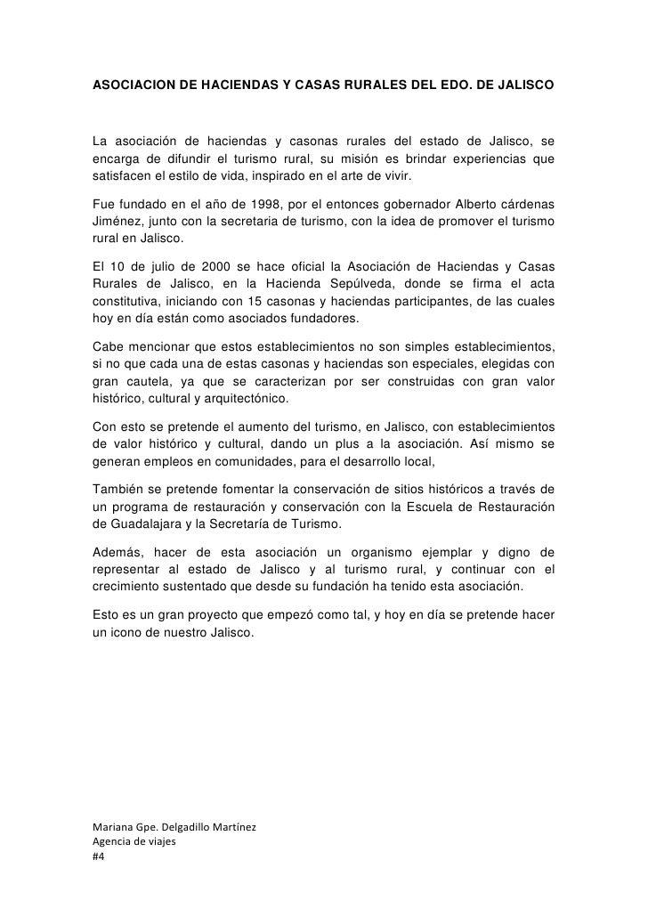 ASOCIACION DE HACIENDAS Y CASAS RURALES DEL EDO. DE JALISCOLa asociación de haciendas y casonas rurales del estado de Jali...