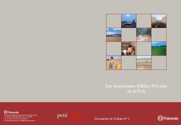 LAS ASOCIACIONES PÚBLICO PRIVADAS EN EL PERÚ  Noviembre 2005