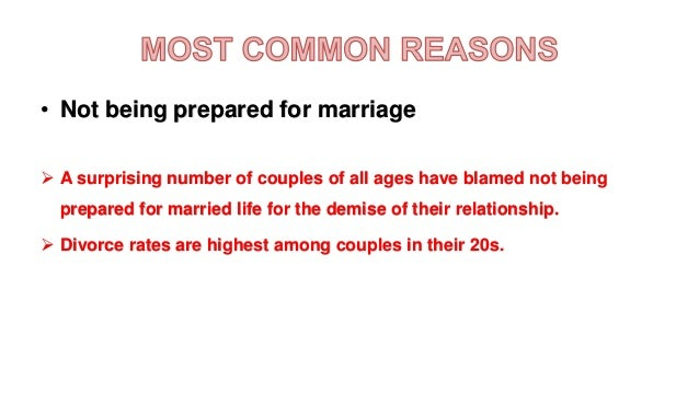 what is the most common reason for divorce