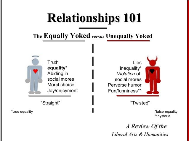 What does unequally yoked mean