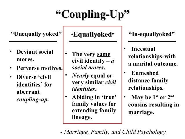 Unequally yoked relationships