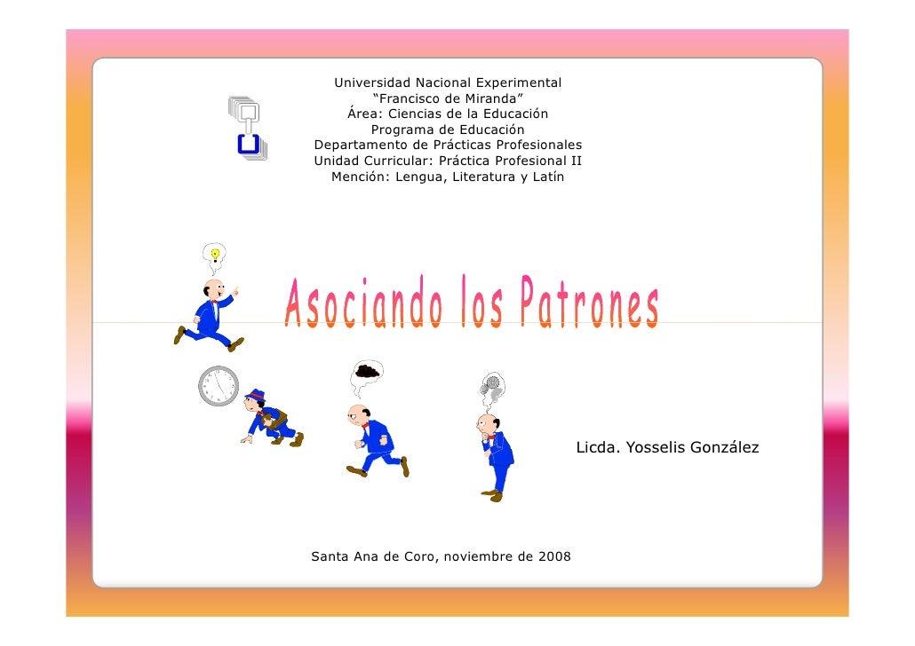 """Universidad Nacional Experimental         """"Francisco de Miranda""""      Área: Ciencias de la Educación         Programa de E..."""