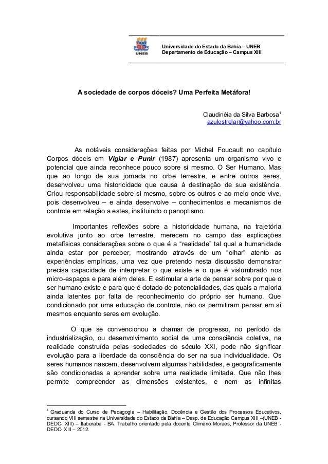 Universidade do Estado da Bahia – UNEB                                                Departamento de Educação – Campus XI...