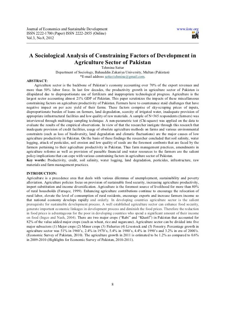 Journal of Economics and Sustainable Development                                                       www.iiste.orgISSN 2...
