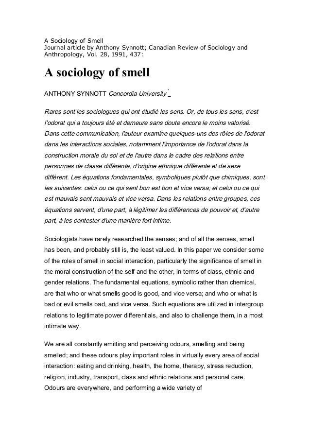 Essay on sociology as a science